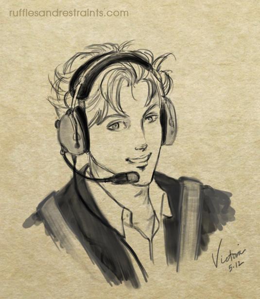 Christian Grey Charlie Tango Sketch