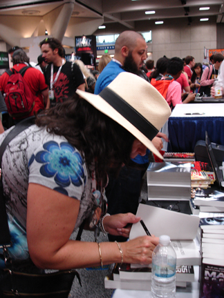 E L James signing books
