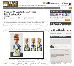 Team Coco Article snippet