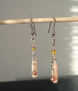 translucent drop with bead charms