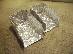 cut foil trays