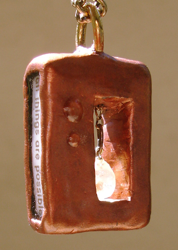 rectangular mustard seed pendant text side