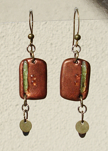 Resin Channel Earrings